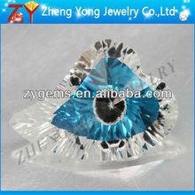 eye rough stone/heart eye gems/machine cut gemstone