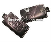 Custom leather car key cover with car logo