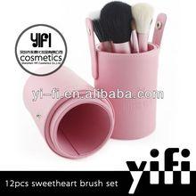 Hot Sale! Miss YiFi Sweet-heart 12pcs Makeup Brush set brush roller makeup brushes makeup artist