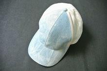 New mens pale denim pad dyed 6 panel cap