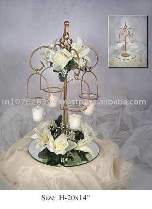 Wedding Centerpiece decorated with crystal drops
