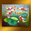 En iyi fiyat kaliteli boyama modern soyut balık Tuval üzerine% için salon dekor