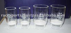 Sintered glass crucible