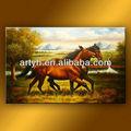 Arte moderna parede designs cavalo pintura a óleo sobre tela para decoração