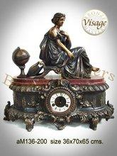 Bronze Classical Table Top Clock Sculpture