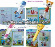 professional book printing children sound book & reading pen