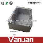 hinged ip65 waterproof plastic enclosure box