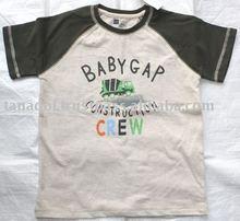 Boy's raglan short slv t-shirt,screen graphic,childrens clothing,children wear,