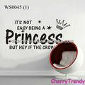 De vinilo de pared calcomanías, pequeña princesa y calcomanías de la corona, etiqueta de su casa