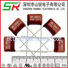 CBB capacitance capacitor pf 221 feet 5 mm metallized polypropylene film capacitor special for LED