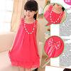2013 summer latest pleated chiffon dress sleeveless lovely candy color girls dresses design for little kids ta10256