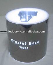 Crystal Head Skull Vodka Bottle Glorifier Mirror Bar Light Display