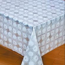 vinyl lace table cloth alike metallic sequin table cloth