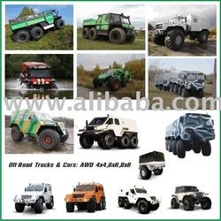 Off-road Trucks & Cars: 4x4,6x6,8x8 (Russian made)