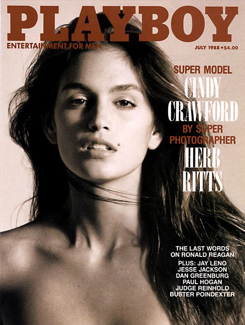 View Product Details: Playboy Magazine July 1988 Cindy Crawford Cover