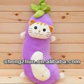 new design cute stuffed vegetable eggplant pillow