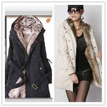 2013 Women Hot Sale Plus Size Winter Lady's Slim Warm Coat S/M/L/XL/XXL/XXXL/XXXXL Beige/Black/Army Green SW11091903