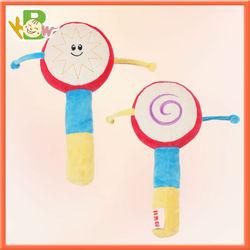 Handshake Chinese Oriental Plush Handle Rattle Drum Shake Toy gadget KIDS