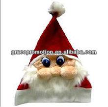 Terylene Christmas Hat W/ Santa Face