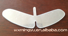 Shirt/clothing/Garment package accessories;Plastic clear butterfly,Plastic butterfly for garment collar