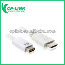MiniDVI male to HDMI male adapter cable 2M