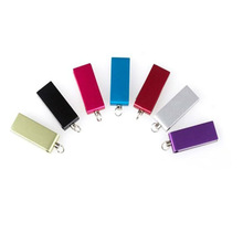 OEM Noble Slim Metal Colorful Swivel Fancy Mini Usb 2.0 Product with Keychain