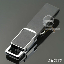 Leather and Metal Key Chain for Car
