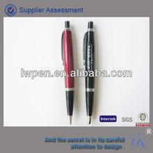 Promotional logo metal cilck pen with fat barrel