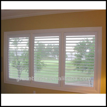 White Teak interior Window Shutters 2.5 inch blade double panel Z frame stain color wooden shutters