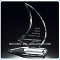 personalidade gravada cristal troféu de barco de vela para lembrança