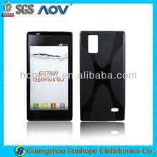 for LG E975W gel back cover OPTIMUS GJ skin X line