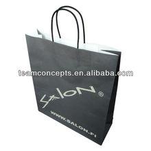 Custom printing kraft paper bag rope handle