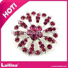 High Quality!Free Shipping!Decorative Rhinestone Garment Accessories Bridal Wedding Crystal Flower Brooch
