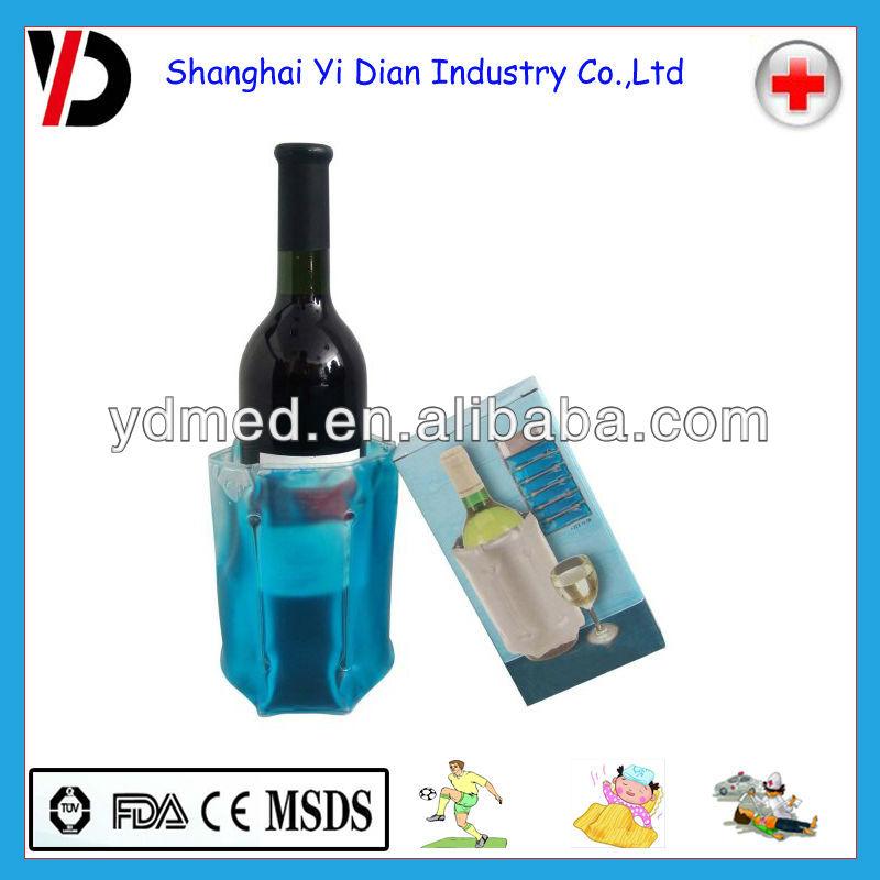 wine chill gel tote carrier beer bottle cooler freeze champagne bag flexible