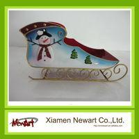 Metal craft christmas iron decorative sleigh