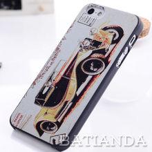 custom Retro figured plastic back cover skin for iphone 5