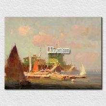 Canvas printing beautiful sea scenery painting