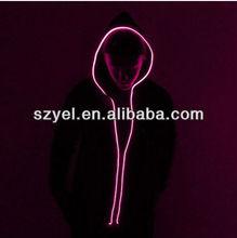 EL Flashing hoodies/EL Wire hoodies/Black Cotton EL Hoodies