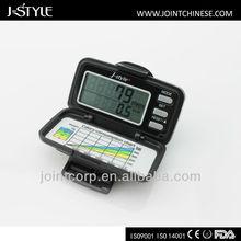 J-Style 3D g sensor multifunction gift digital step counter calorie burned clip step meter