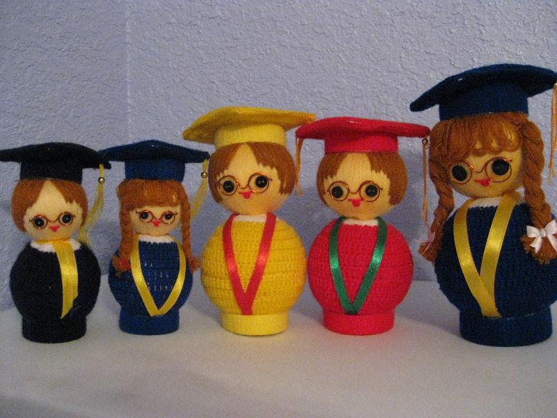 para hacer punto de la graduación de la muñeca-Muñecas ...