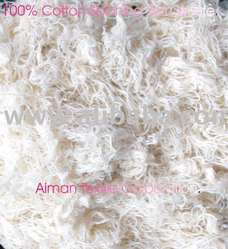 100% de algodón blanqueado comber, hilo algodón 100% de residuos, de algodón de tamaño los desperdicios de hilados. En us$ 1.05/kg, 0.75/kg 2x40fcl envío listo.
