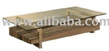 Wood Table w/glass Metropol - Astra