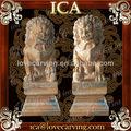 Ica, Mármore leão chinês, Amarelo estátua do leão