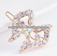 Shiny fashion rhinestone crystal butterfly girl hair accessories hair clips
