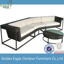 PE synthetic rattan & aluminum outdoor furniture, waiting room sofa, furniture wicker