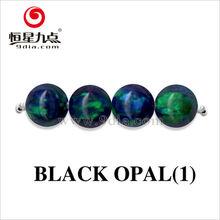 2GC03071A Black Opal Color 2mm Opal Gemstone Beads