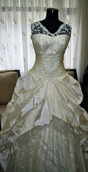 See larger image gothic wedding dress