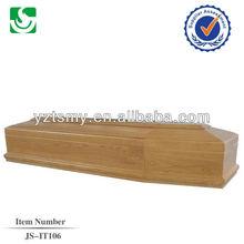 European style antique wooden coffin
