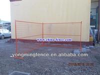 6ft high steel temporary fence panels orange powder color coating