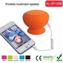 3.5mm jack for mobile phone smartphone pc silicone mini mushroom speakers